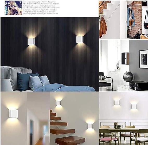 WFBP Aplique Pared Interior LED 10W Iluminación Decorativa en Yeso Luz Lampara Pared led IP54 Impermeable Apliques de Pared Blanco,White3wwhitelight: Amazon.es: Hogar