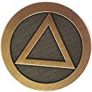 """Circle Triangle Car Coaster AA Logo Medallion Absorbent Stone 2.5"""" Cup Holder"""