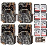 Four Browning Spec Ops Advantage 20MP Trail/Game Cameras with Color Display + 8 16GB Cards + Focus USB Reader