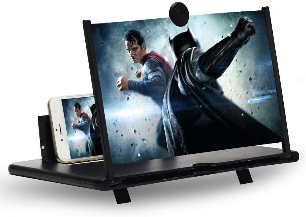 Lupa de Pantalla, Pantalla de 12Stretch Design Screen Mobile Phone, Adecuada para Ver Videos de películas en Todos los teléfonos Inteligentes: Amazon.es: Electrónica