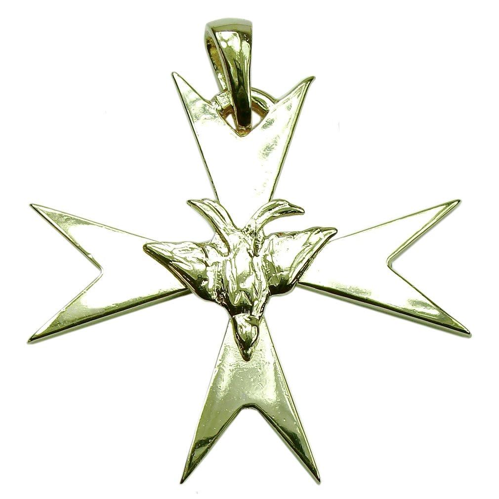 Souvenirs de France - Grande Croix Huguenote (Protestante) - Argent Plein, Plaqué Or ou Or Plein 18-Cts SOF-protestant-cross-25211_S