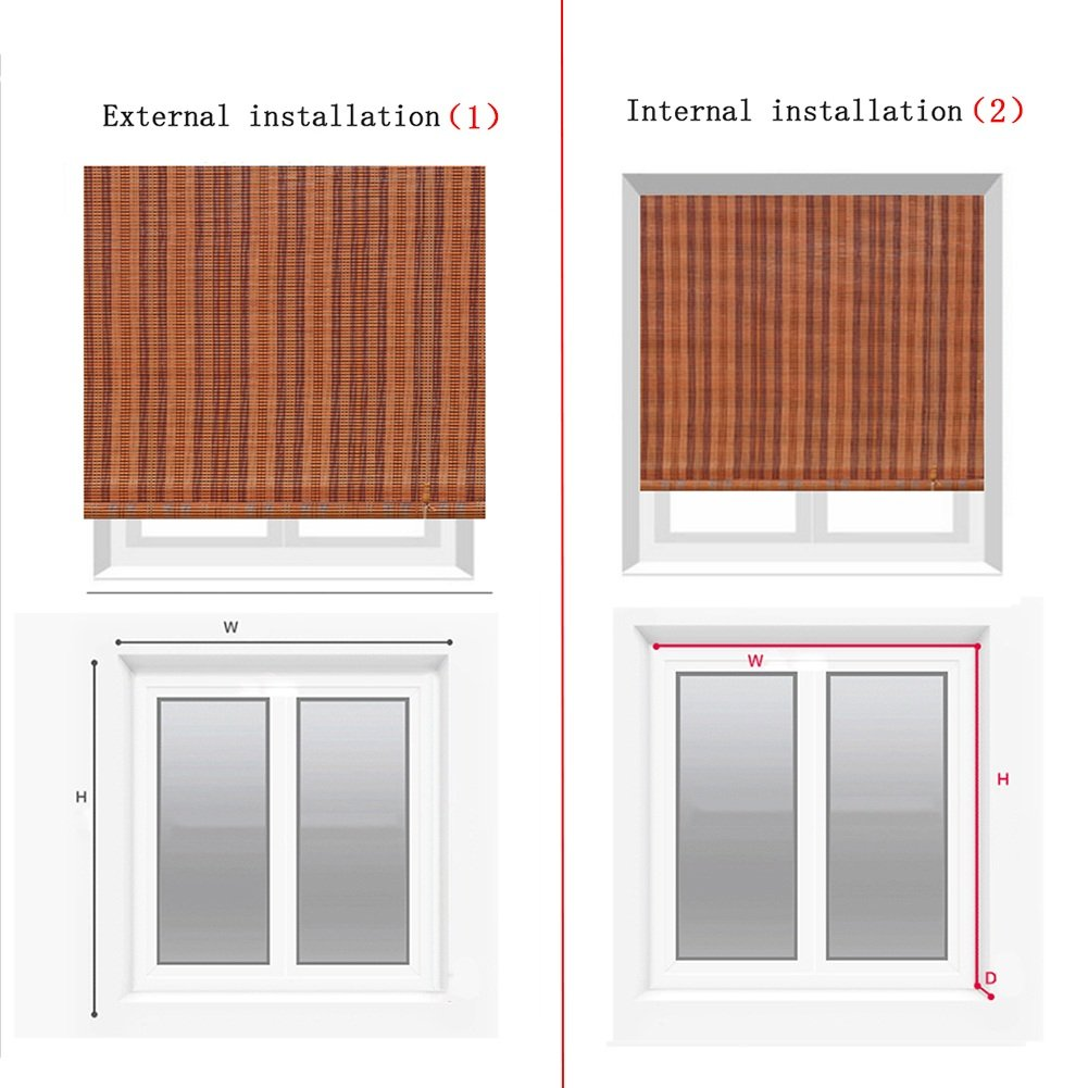 Wenzhe Bambusrollo Fenster Sichtschutz Rollos Holzrollo Bambus