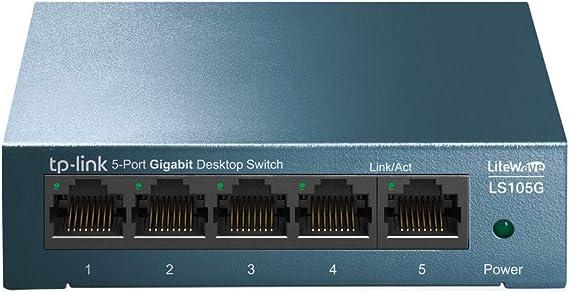 Tp Link Ls105g 5 Port Desktop Wallmount Gigabit Ethernet Switch Stahl Gehäuse