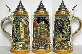 German Beer Stein - Hofbräuhaus Munich Reliefstein .25L - Yellow