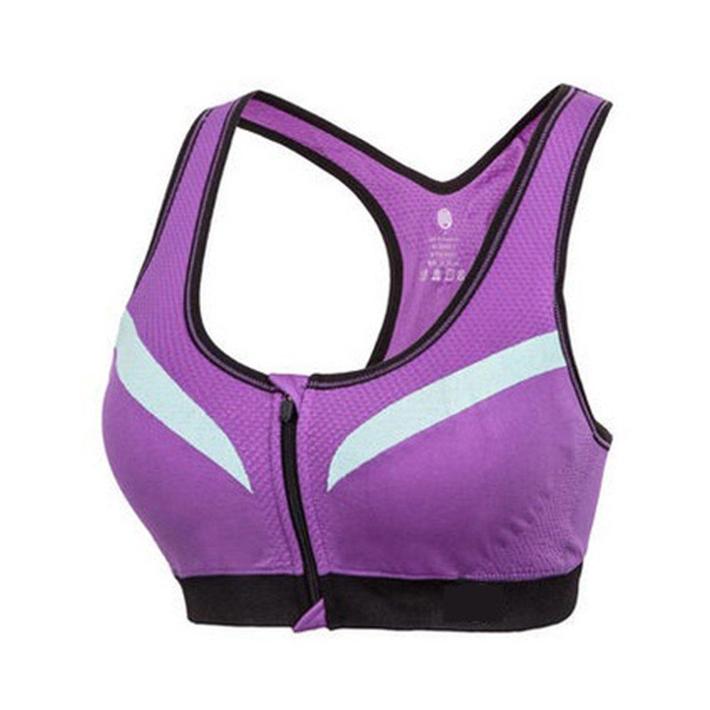 LaoZan Sujetador Deportivo De Alto Impacto para Mujer Sujetador Yoga Running Sin Aros Sujetador con Cremallera Frontal: Amazon.es: Deportes y aire libre