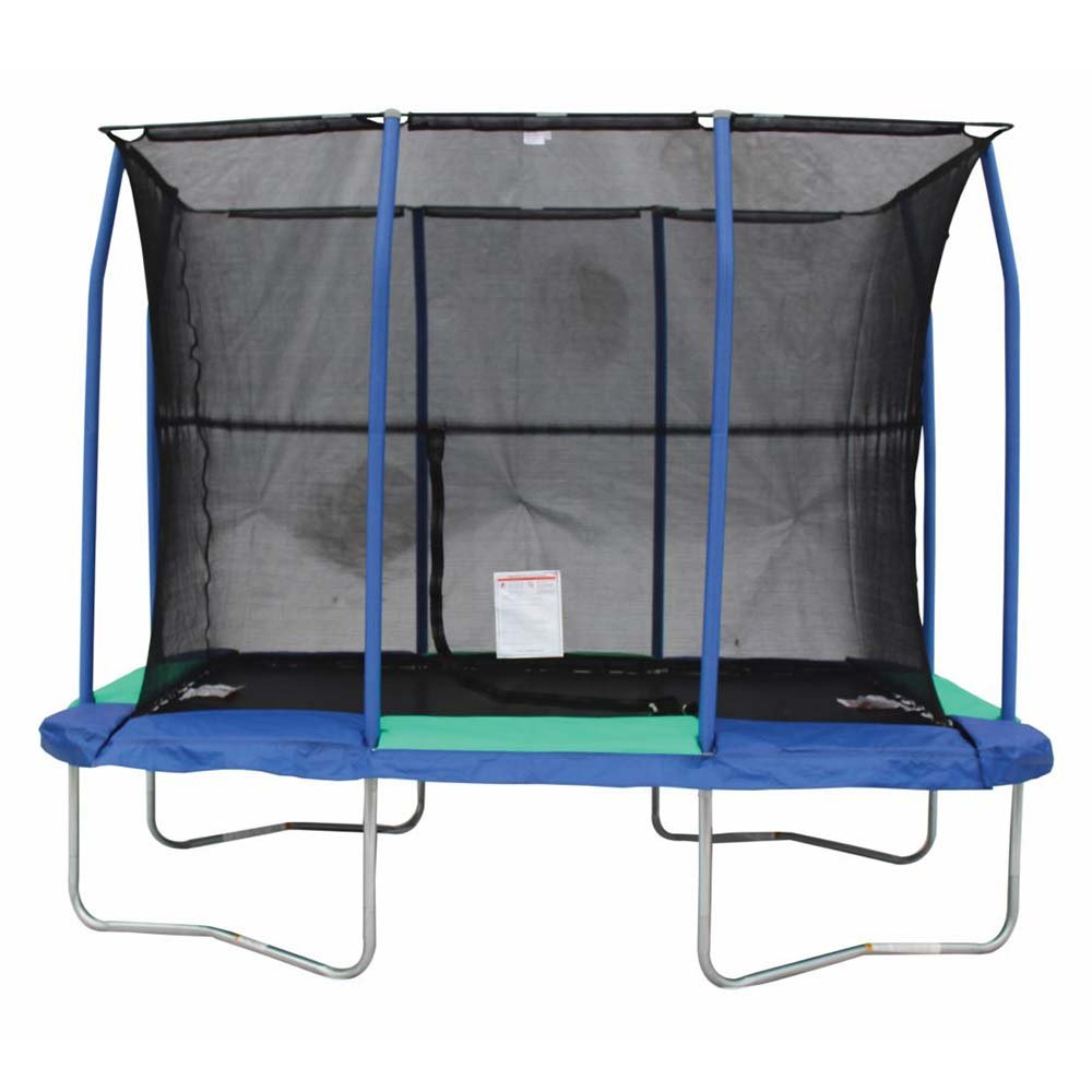 JumpKing 7 x 10 Foot Rectangular Trampoline with Padded Enclosure by JumpKing