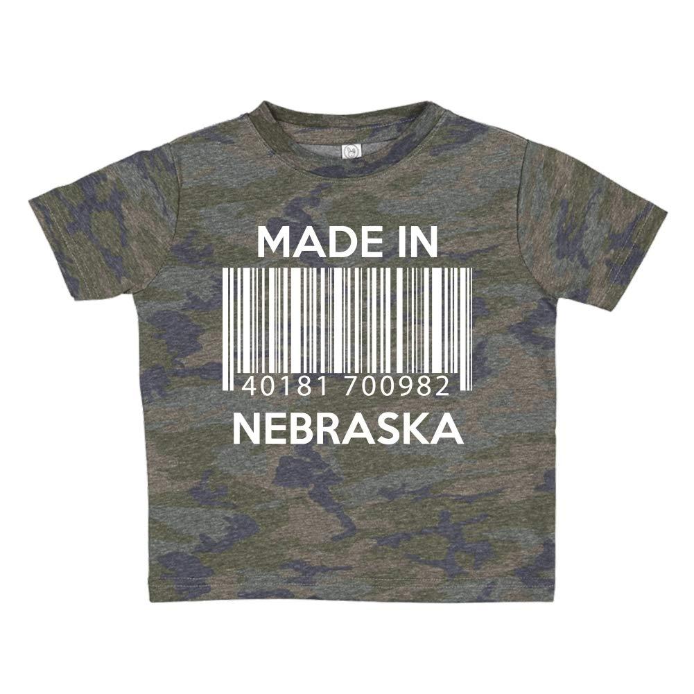 Made in Nebraska Barcode Toddler//Kids Short Sleeve T-Shirt