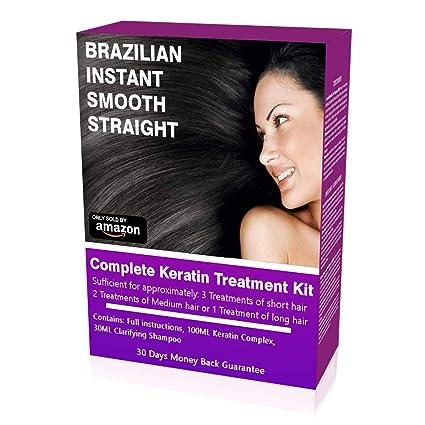 Tratamiento de queratina Brazilian Straight, kit para uso en el hogar, alisado de pelo