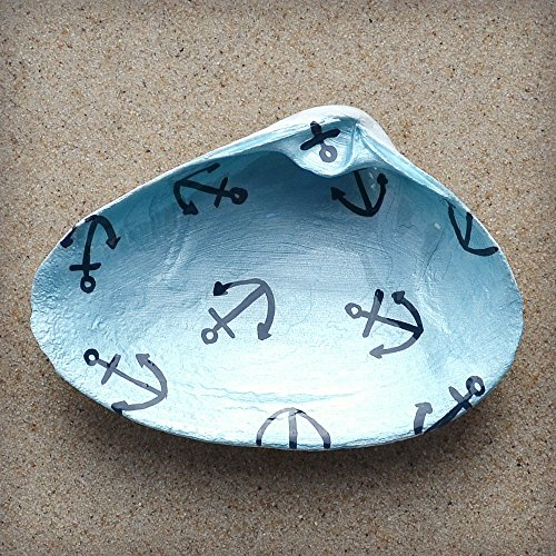Small-Anchors-Clam-Shell-Dish-Spoon-Rest-Soap-Dish-Jewelry-Holder-Catch-all-Cranberry-Collective