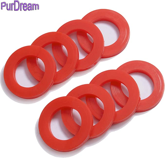 SN-A 2Pcs 52mm x 80mm x 5mm O-Ring Hose Gasket Silicone Washer