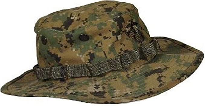 c6477e73ceb Amazon.com  Marine Marpat Woodland Digital Camouflage Boonie Hat  Clothing