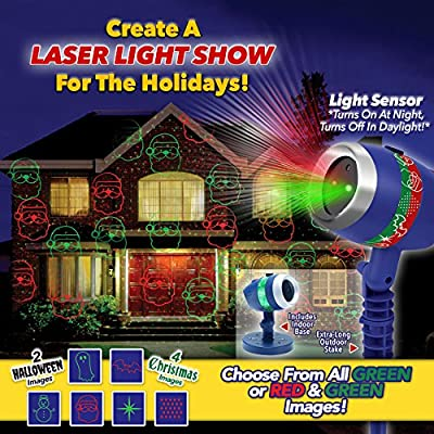 Star Shower Laser Magic by BulbHead, Laser Outdoor Lights for an LED Laser Light Show