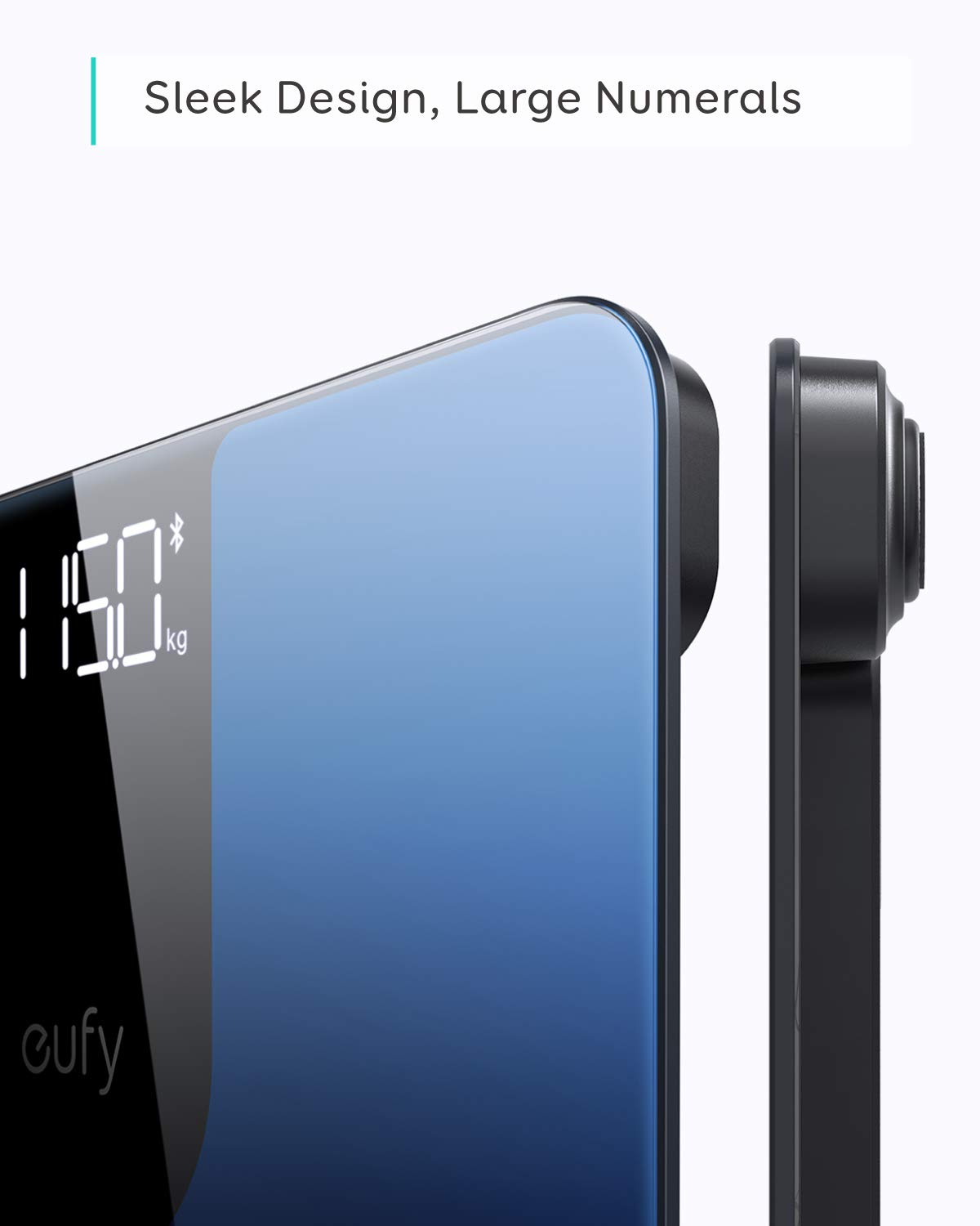 eufy Smart Scale P1 with Bluetooth, Body Fat Scale, Wireless Digital Bathroom Scale, 14 Measurements, Weight/Body Fat/BMI, Fitness Body Composition Analysis, Black/White, lbs/kg by eufy (Image #4)