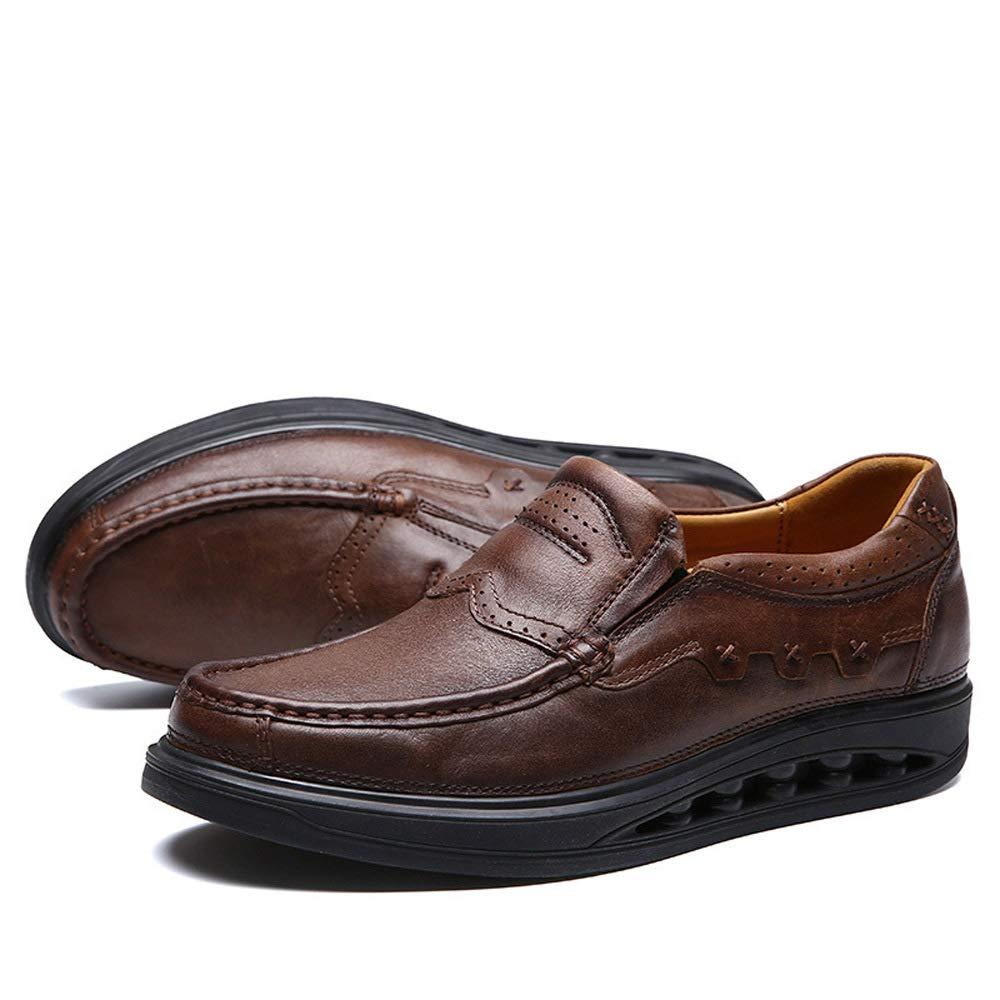 WANG-LONG Schuhe Herren Martin Stiefel Herbst Retro Outdoor Business Atmungsaktiv Business Outdoor Casual Lederschuhe Rutschfeste Mode,Dark-braun(A)-41 c69558