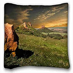 Custom Nature Custom Cotton & Polyester Soft Rectangle Pillow Case Cover 16x16 inches (One Side) suitable for Full-bed