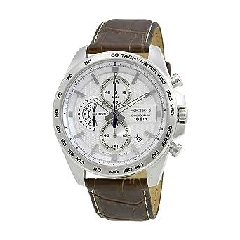 Seiko Reloj Cronógrafo para Hombre de Cuarzo con Correa en Cuero SSB263P1: Amazon.es: Relojes