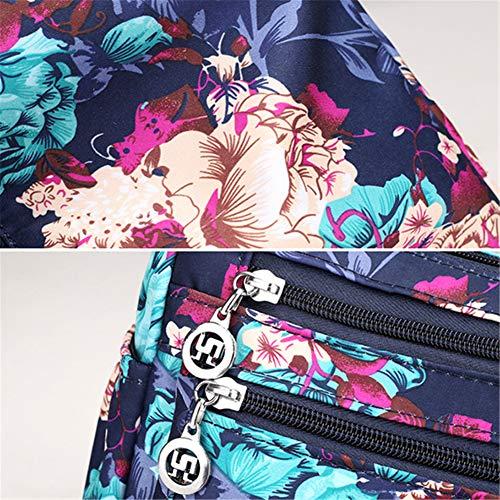 Negro multiposición de Oscuro Bolso OURBAG Nylon Bolso para Bolso Bandolera Mujer Impermeable Crossbody Azul Casual señora nfwZ7qpx