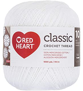 Amazon.com: Red Heart Classic Crochet Thread, Size 10 ...