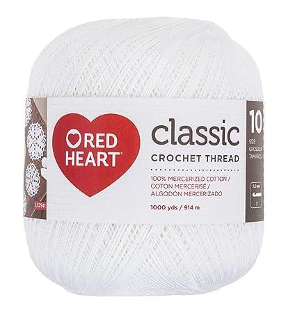 Amazoncom Coats Crochet Red Heart Classic Crochet Thread Size 10