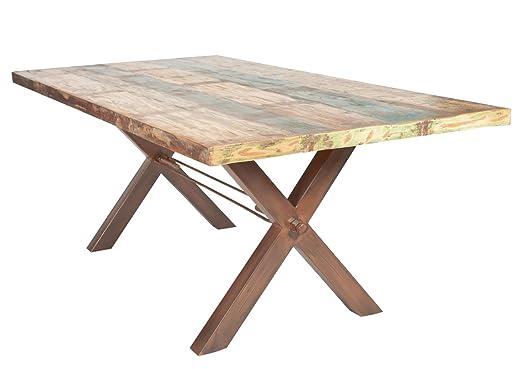 Sit Möbel Mesas mesa 160 x 85 cm, madera vieja Multicolor lacado ...