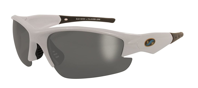 628a9c37db4 BlueWater Polarized Islander 1 Line Sunglasses (Pearl White Frame Smoke Lens