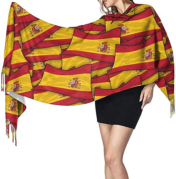 Bufanda Chal Envolturas Cachemira Siento Bufanda España Bandera Ola Collage Bufanda Grande Súper Suave Cálido Lujoso Para Mujeres Oficinista Viajes: Amazon.es: Ropa y accesorios