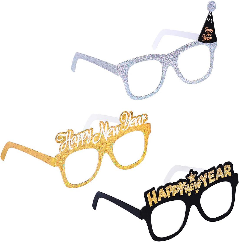 PRETYZOOM 12 Packs Bonne Ann/ée F/ête Lunettes 2019 Eyegalsses Cadre F/ête danniversaire Favor Accessoires Fournitures D/écoration