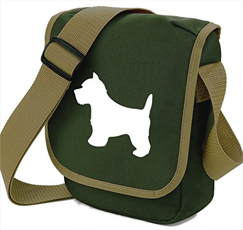 West Highland White Terrier Dog Bag Reporter Bag Shoulder Bag Westie Silhouette West Highland Gift Choice of Colours Olive