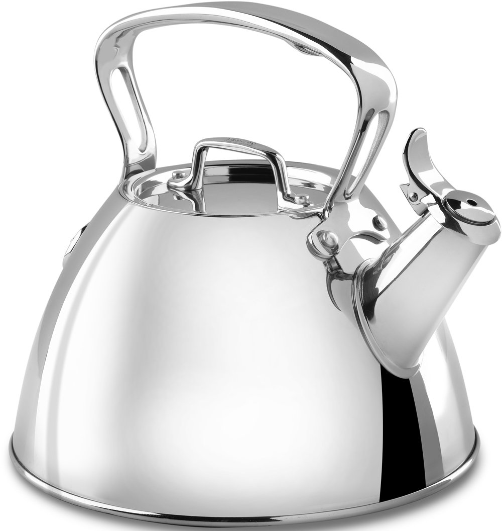 All-Clad E86199 Stainless Steel Specialty Cookware Tea Kettle, 2-Quart, Silver by All-Clad