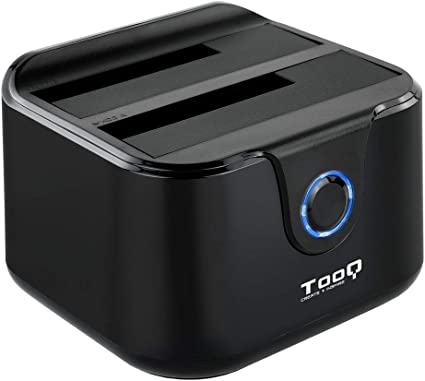 TooQ TQDS-802B - Base de conexion Docking Station con Doble Bahia ...