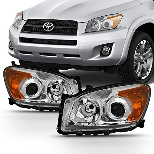 2009 2010 2011 2012 Toyota RAV4 Clear Headlights Lamps Front Pair Driver Left+ Passenger Right Side (Headlight Driver Toyota Rav4)