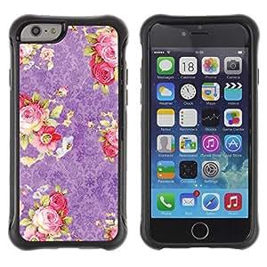 "Pulsar iFace Series Tpu silicona Carcasa Funda Case para Apple iPhone 6+ Plus(5.5 inches) , Pink Roses Wallpaper Vintage Retro"""