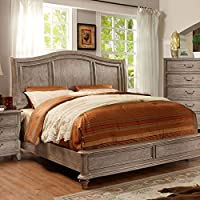 247SHOPATHOME Idf-7611CK Bed-Frames, California King, Oak