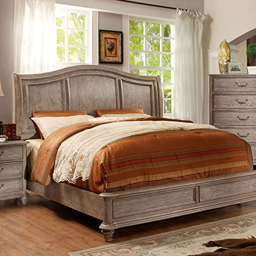 Belgrade II Transitional Rustic Weathered Oak Cal King Size Bed