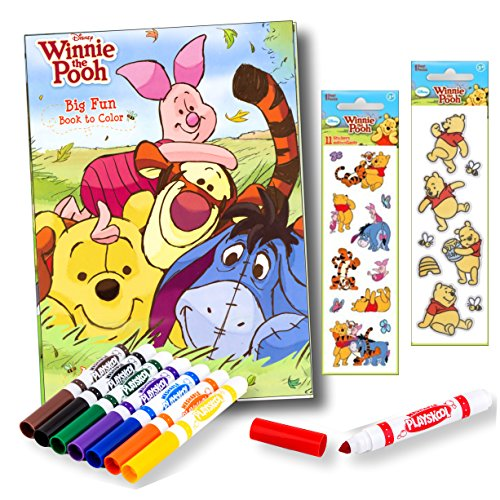 (Bendon Intl Disney Favorite Characters Coloring Books for Kids with Stickers and Markers (Winnie the Pooh Coloring Book with Stickers and Markers))