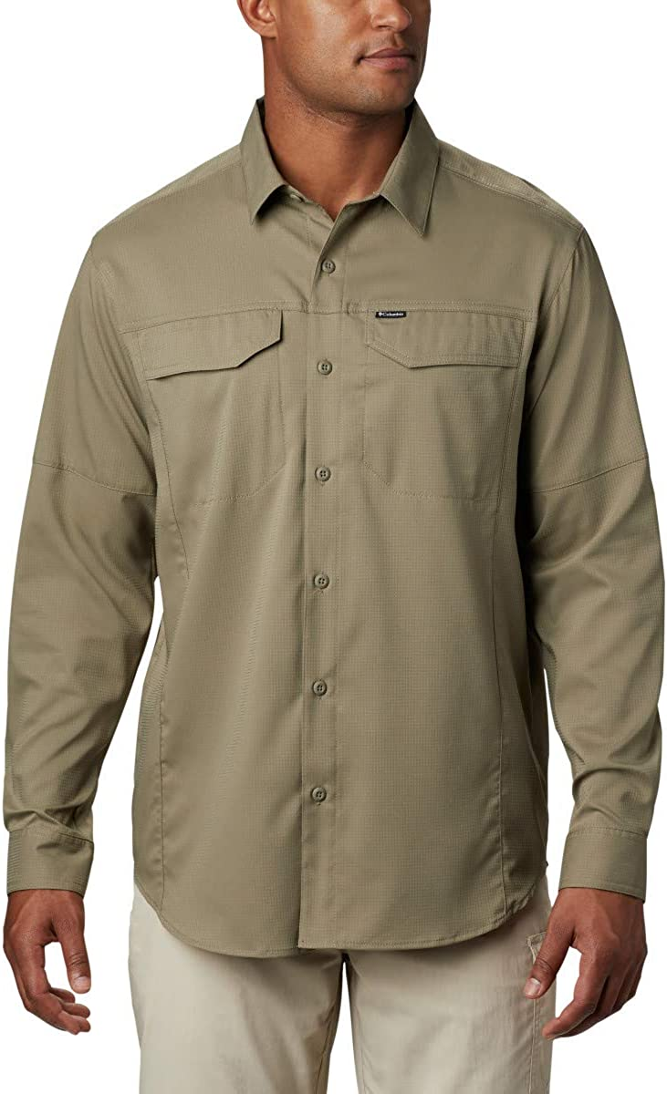 Columbia Mens Silver Ridge Lite Long Sleeve Shirt: Clothing
