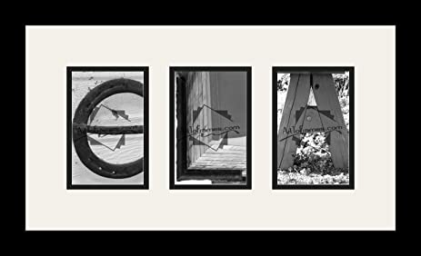 Amazon.com: Art to Frames LetterArt-ELA-46673-61/89-FRBW26079 Letter ...