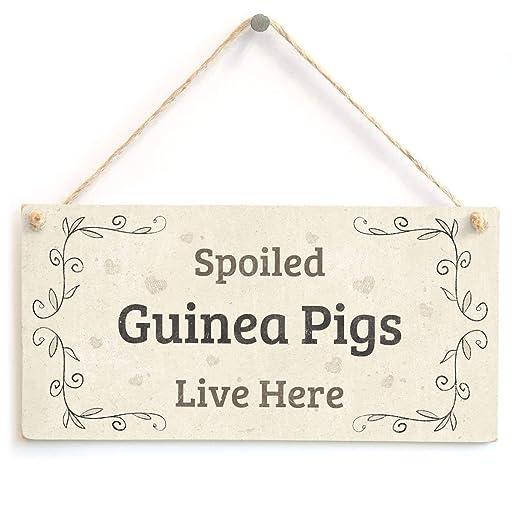 Spoiled Guinea Pigs Live Here Letrero de Placa de Madera ...