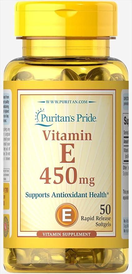 Vitamina E 1000 IU 50 perlas. E1000. 1 und.
