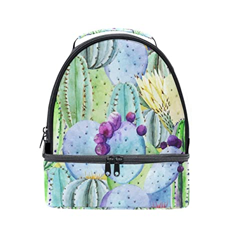 b6557dfae11a Amazon.com: Lunch Tote Beautiful Cactus Custom Mens Insulated Lunch ...