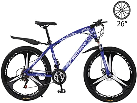 LXDDP Bicicleta montaña, 26 Amortiguador Bicicleta Aluminio, Pulgada Freno Disco 21/24/27 Velocidad Estudiante Bicicleta Bicicleta para Adultos Bicicleta montaña: Amazon.es: Deportes y aire libre