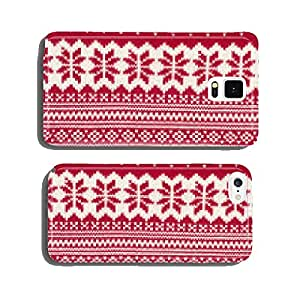 Knit woolen texture.Winter snowflakes shapes pattern background. cell phone cover case iPhone6