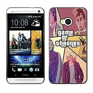 EJOY---Cubierta de la caja de protección la piel dura para el / HTC One M7 / --Juego De Throns