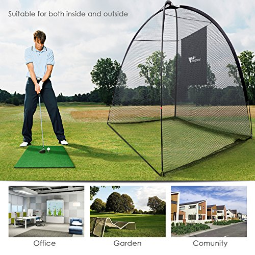 Amzdeal Golf Practice Net Golf Driving Hitting Net for Backyard Indoors Outdoors Golf Cage Trainging Aids with Target Sheet by Amzdeal (Image #4)
