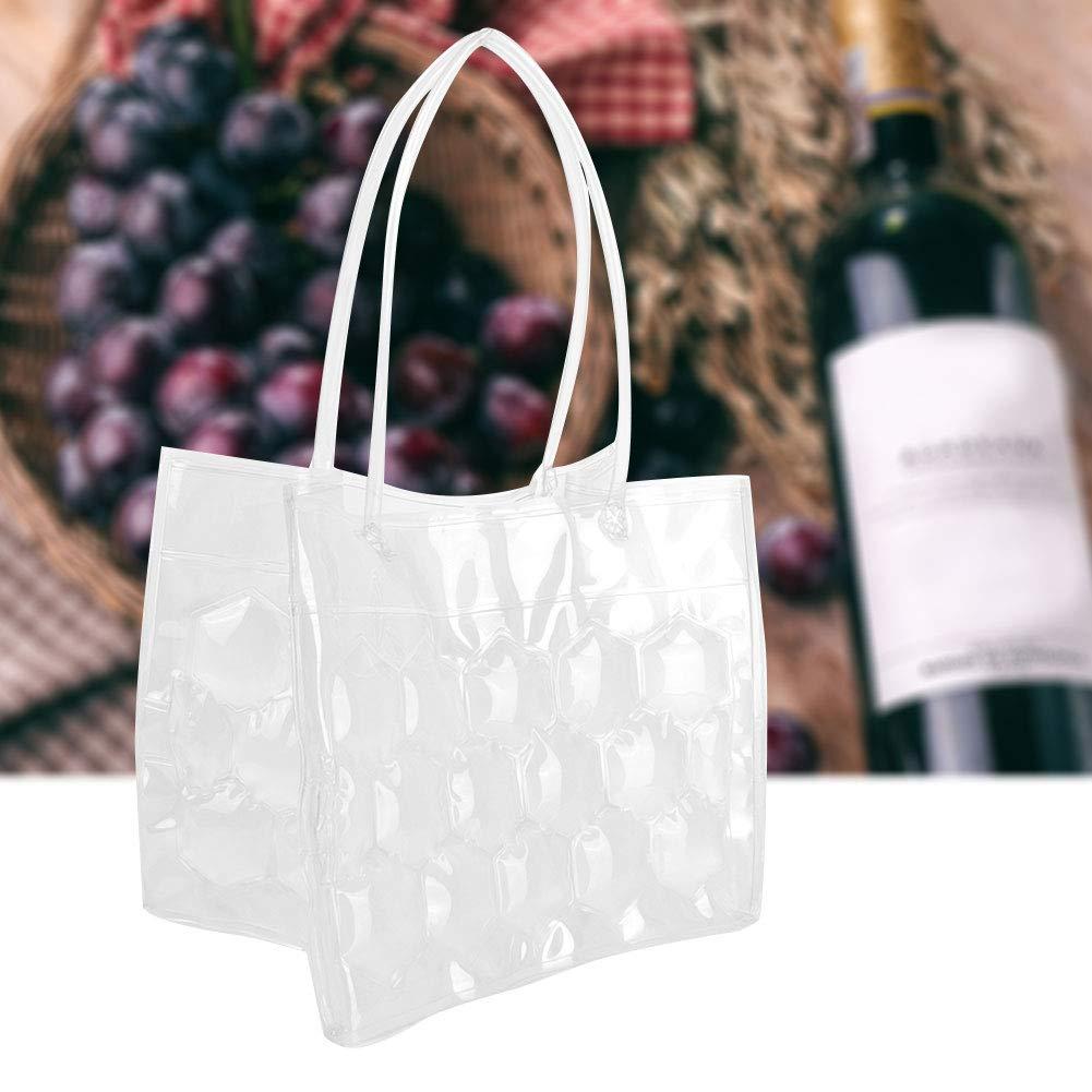 Blue Fdit1 Gel Beads Wine Bottle Cooler Portable PVC Ice Beer Borsa di Raffreddamento 6 Pezzi