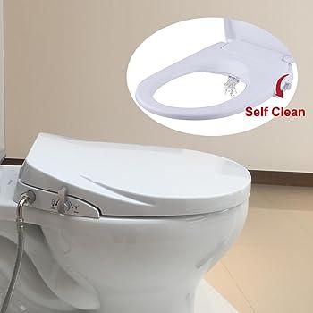 Hibbent Round Bidet Toilet Seats Non Electric With