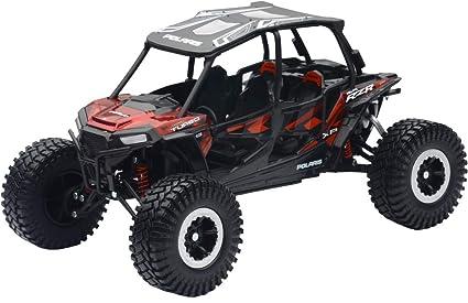 New Ray Toys Polaris RZR 4 Turbo XP 1:18 Rock Crawler Titanium Red 57976B