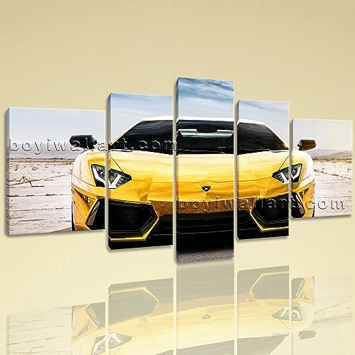 Amazon.com: Extra Large Lamborghini Car Canvas Art Wall Living Room ...