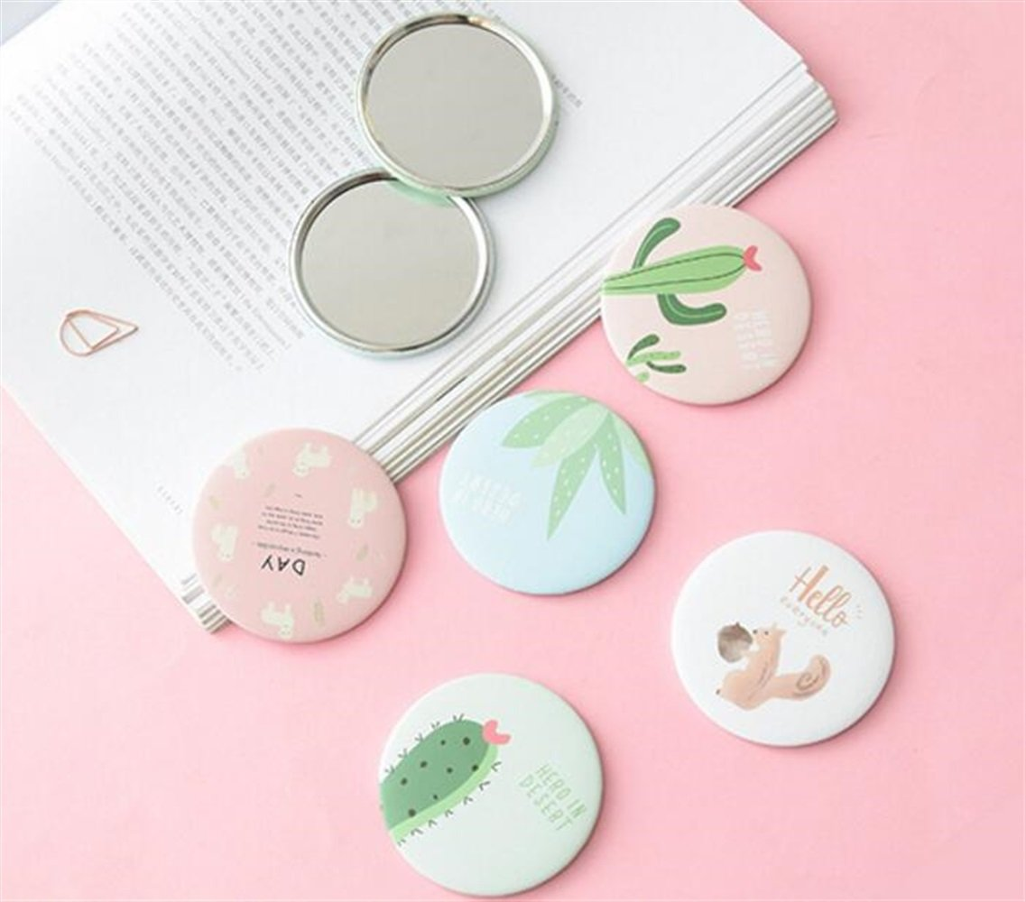 Yingealy Childrens Mirror Mini Round Cartoon Goose Pattern Small Glass Mirrors Circles for Crafts Decoration Cosmetic Accessory by Yingealy (Image #5)