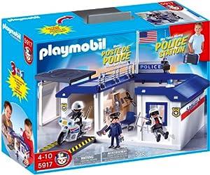 Amazon.com: Playmobil Take Along Police Station Playset: Toys & Games